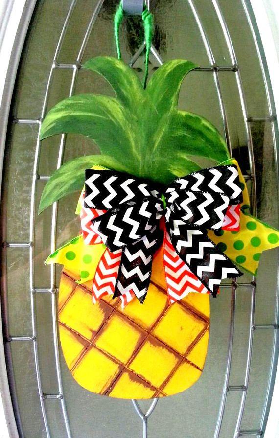Pineapple Door Hanger Tropical Door Hanger Island Door Hanger