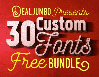 "Check out this @Behance project: ""Dealjumbo Free Bundle vol.5 – 30 Custom Fonts!"" https://www.behance.net/gallery/30812023/Dealjumbo-Free-Bundle-vol5-30-Custom-Fonts"