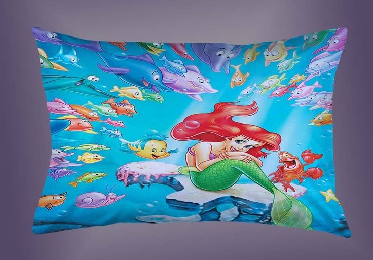 """Hot Little Mermaid With Flounder Fish Custom Pillow Case 16""""x24"""" Limited Edition #Unbranded #pillowcase #pillowcover #cushioncase #cushioncover #best #new #trending #rare #hot #cheap #bestselling #bestquality #home #decor #bed #bedding #polyester #fashion #style #elegant #awesome #luxury  #disney #princessariel #mernaid #cartoon"""