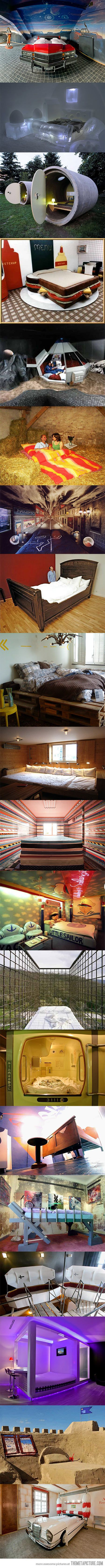 """The worlds most unusual hotel beds """"This made me laugh, some would be interesting to have as theme rooms, while others are really off the wall.:"""