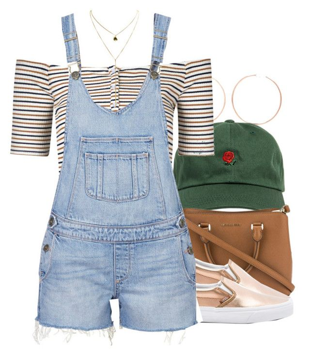 """"""""""" by trinsowavy ❤ liked on Polyvore featuring Anita Ko, The Hundreds, Michael Kors, Vans, Glamorous and Paige Denim"""