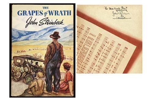 10 самых дорогих книг писателей XX века «Гроздья гнева» Джона Стейнбека — $41 825
