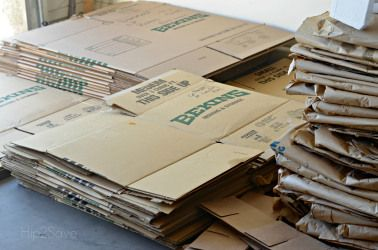 Buy and re-sell boxes and packing material on Craigslist
