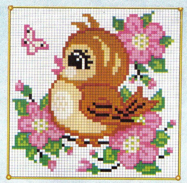 Cute bird perler bead pattern