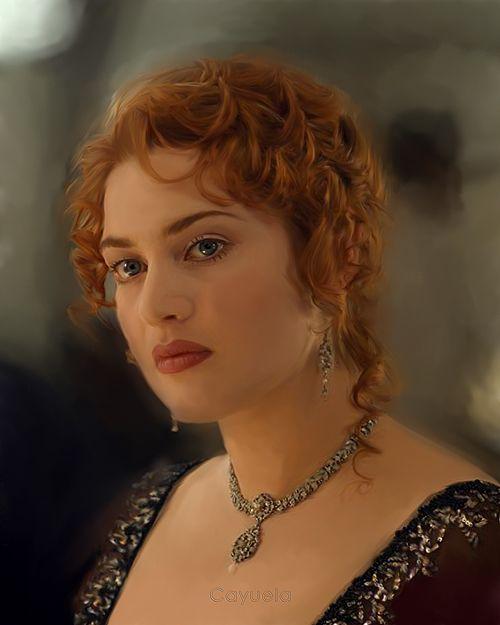 Kate Winslet as Rose DeWitt Bukater in the movie Titanic