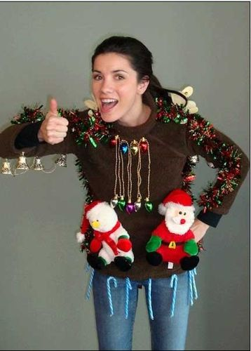 15 Do It Yourself Ugly Christmas Sweaters - Oh My Creative |Ugliest Sweater Contest Ideas