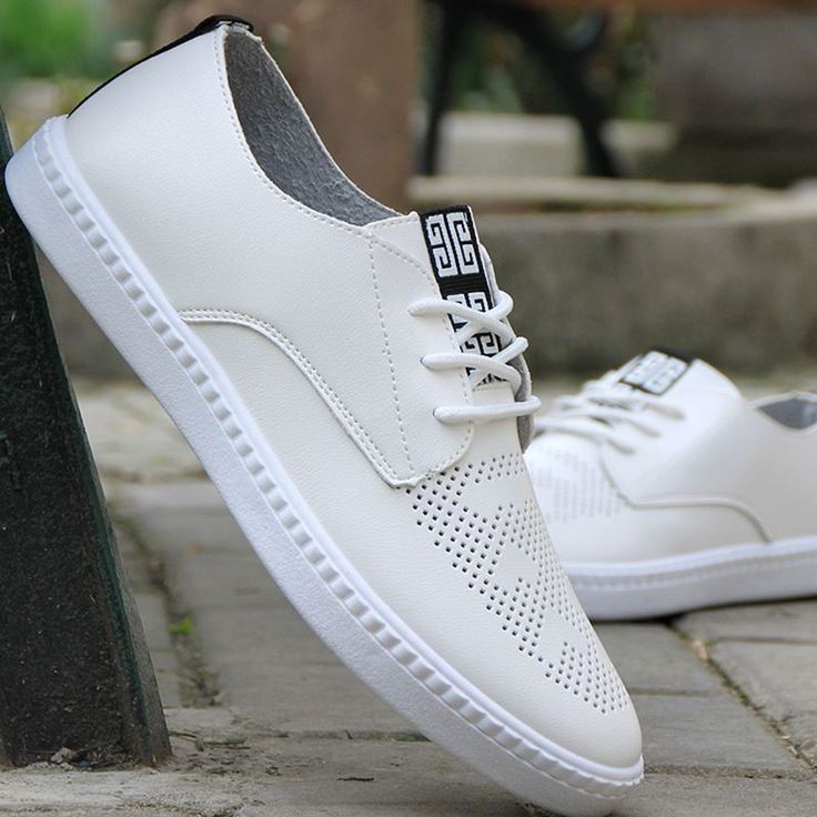 women The girl white shoes summer the trend of leather cutout breathable casual shoes white shoes women  shoes