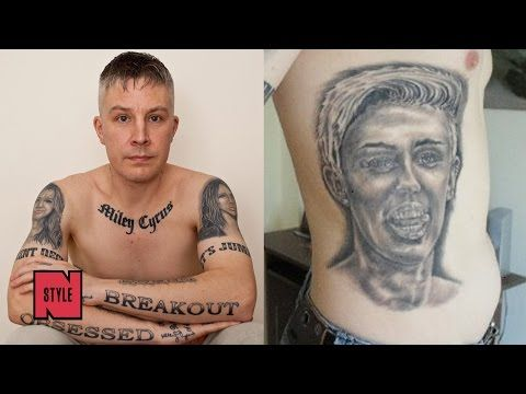 Man with 29 #Miley tattoos to have them removd after Miley calls them ugly, says he's creepy |