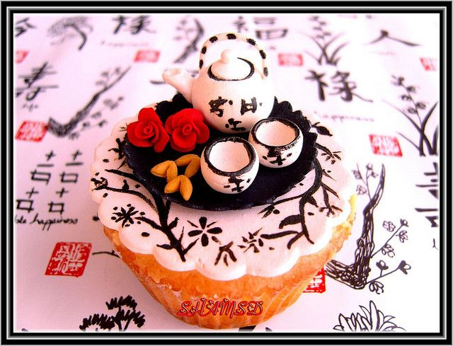 Chinese tea cup cake