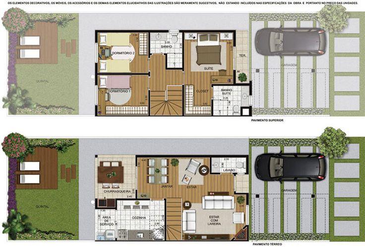 Sobrado pequeno casas pinterest design compacta e for Fachadas de apartamentos pequenos