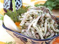 Салат «Ташкент» - из редиса, баранины и зелени