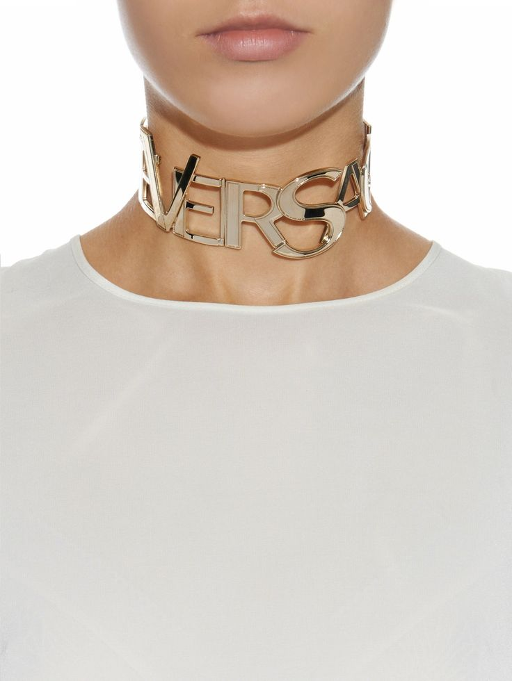 Logo choker necklace by Versace | Shop now at #MATCHESFASHION.COM