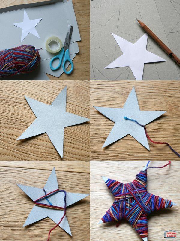 Décoration de Noël : étoile en laine