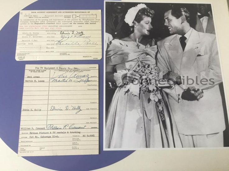 Lucille Ball Desi Arnaz Lucy Signature Bank Card Lot 2 1956 COA Wedding Photo | Entertainment Memorabilia, Television Memorabilia, Other Television Memorabilia | eBay!