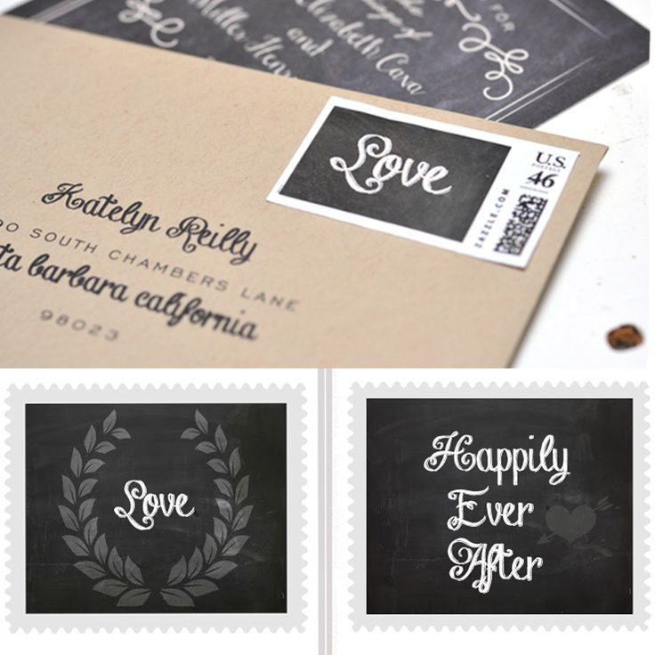 These free printable stamps would look amazing on our DIY postcard invitations :)