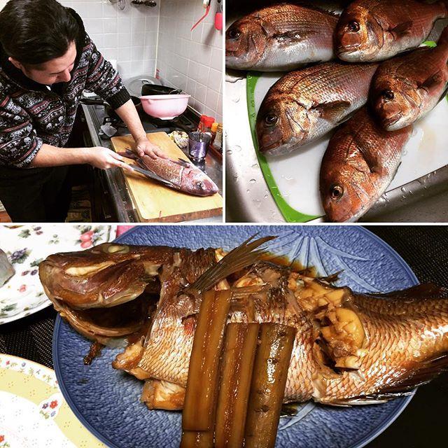 【kenny_kenz】さんのInstagramをピンしています。 《正月メイン料理になった鯛! #outdoor#魚料理#海#instagram#sashimi#healthyfood#hood#鯛 #刺身 #seafood #正月》
