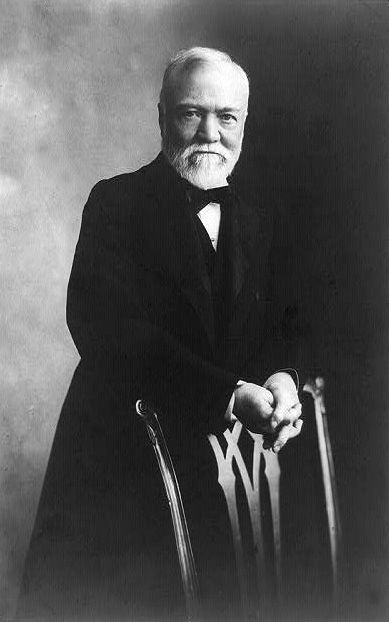 "U.S. BUSINESS / PHILANTHROPY. Andrew Carnegie (1835 - 1919) c.1905. He was a Scottish American industrialist who led the enormous expansion of the American steel industry in the late 19th century. After retiring in 1901 at the age of 66 as the world's richest man, Andrew Carnegie wanted to become a philanthropist, a person who gives money to good causes. He believed in the ""Gospel of Wealth,"" which meant that wealthy people were morally obligated to give their money back to others in…"