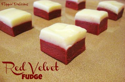 Flippin' Delicious: Gluten Free Red Velvet Fudge. Looks so good, I think I may try it this week!