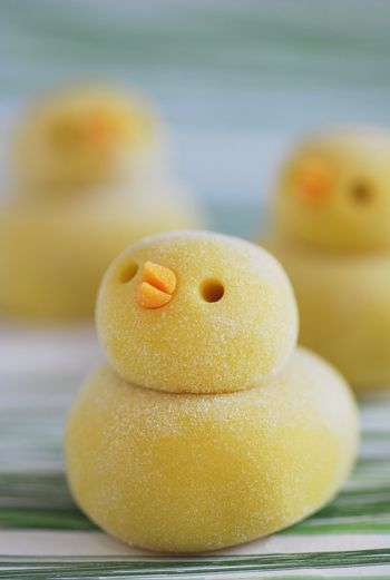 "Japanese sweets titled ""chick"" #sweet #chick #cute"