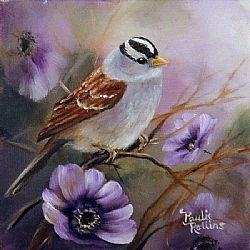 Art: The Purples Have It 3x3 by Artist Paulie Rollins