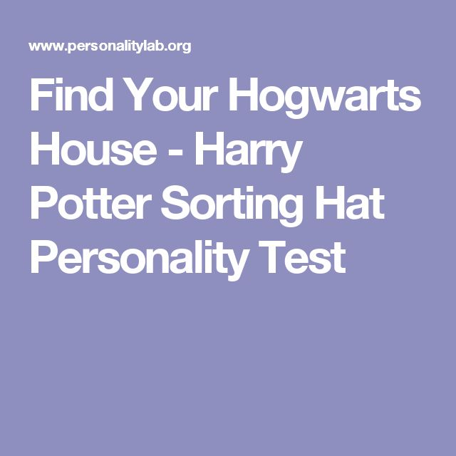 Find Your Hogwarts House - Harry Potter Sorting Hat Personality Test