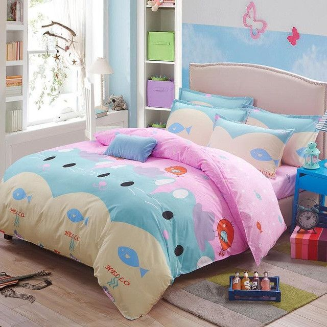 bedding set 5 size Green Spirit bedding set duvet cover set pink bed cover bed linen