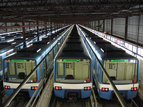 Montreal metro train depot