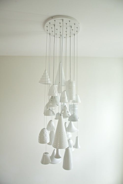 Love the all white with various textures on this fixture. Living With Kids: Jillian Murphy