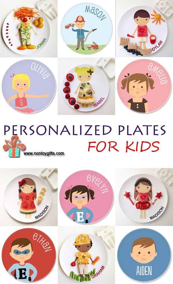 Personalized plates for kids to keep those picky eaters interested in their dinner. Play with your food!