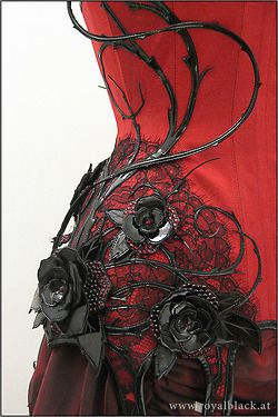 Couture 'Wild Roses' Corset from Royal Black -- exquisite detailing