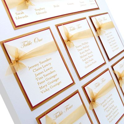 Table plan- simple and elegant