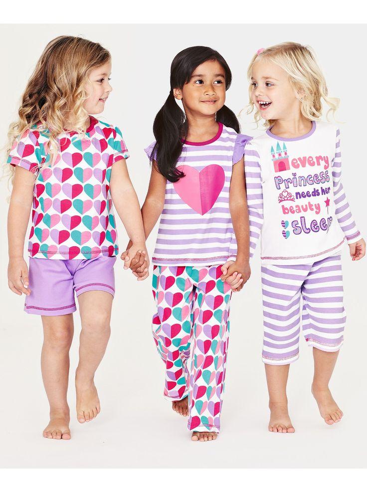 LadybirdGirls Pyjamas (6 piece set) | Very.co.uk