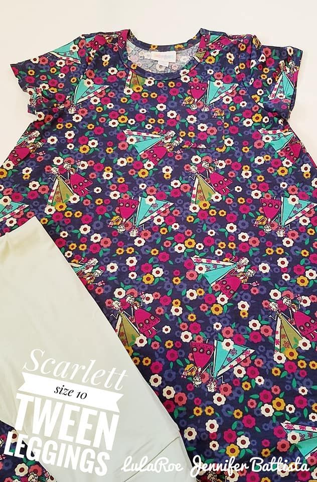 cfe3b924ffd66c Girls Frozen Dress with Pink or Purple Leggings by LuLaRoe! Shop Now with  Jennifer Battista