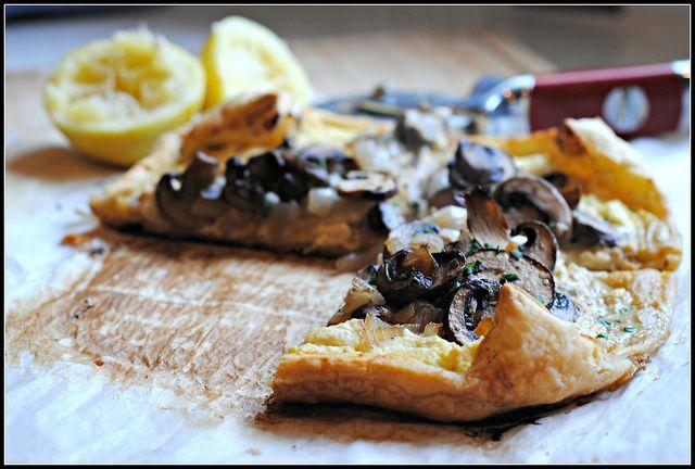 Mushroom & Feta Tart by preventionrd #Mushroom #Feta #preventionrd