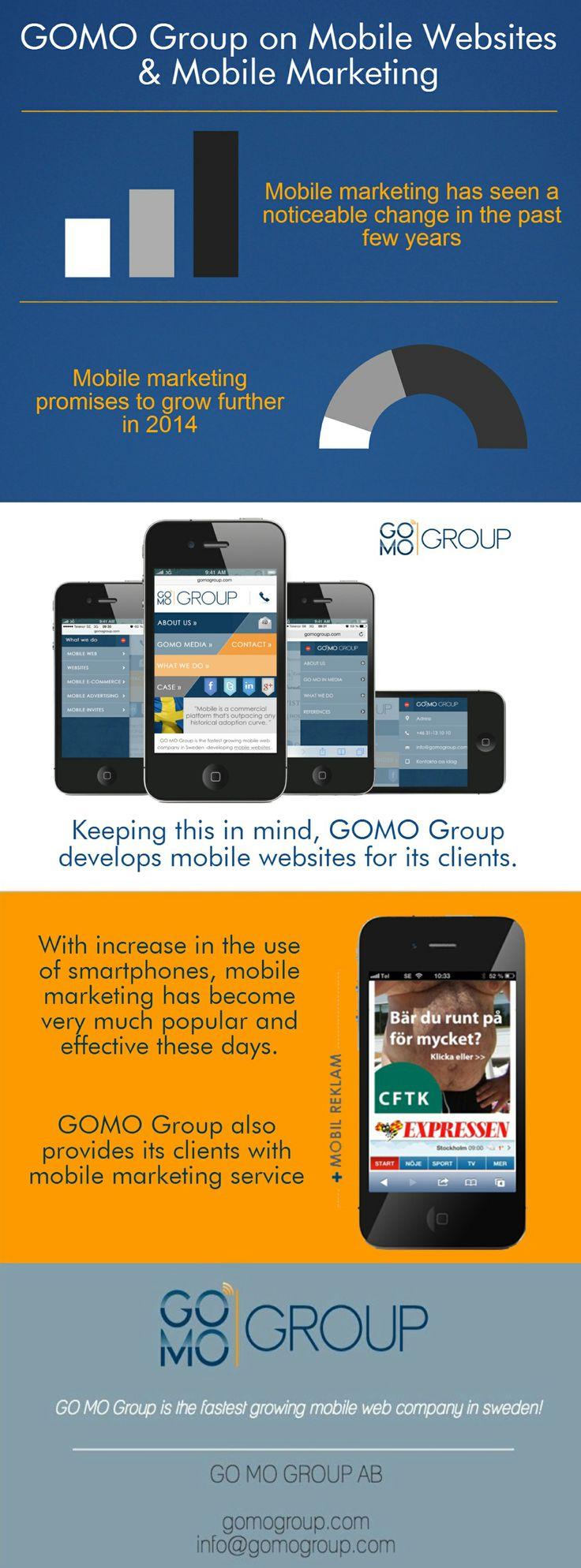 GOMO Group är ledande i Sverige inom utveckling av mobila webbplatser. GOMO Group erbjuder sina kunder strategisk rådgivning inom mobil marknadsföring.