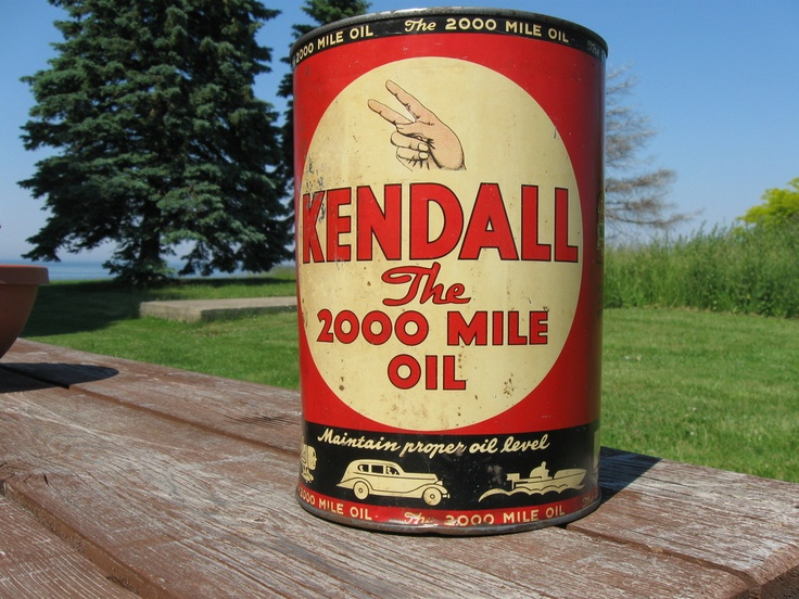 Kendall 5 Qt Oil Can 1940 Signage Pinterest Oil