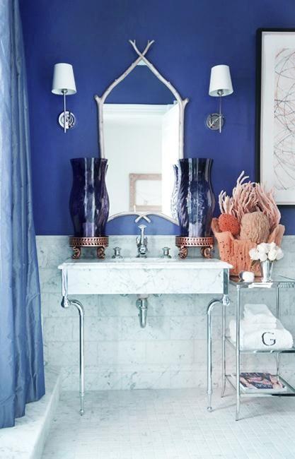 13 best cloakroom closet images on pinterest bathroom for Blue and purple bathroom ideas