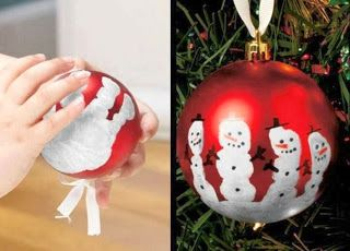Now You Can Pin It!: Keepsake Hand Print Snowman Ornament