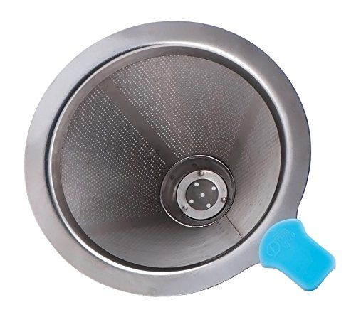 Diguo Stainless Steel Permanent Coffee Filter Cone Dripper No Filter Paper Needed (1 - 2 Cups) - http://www.majestycoffeemakers.com/diguo-stainless-steel-permanent-coffee-filter-cone-dripper-no-filter-paper-needed-1-2-cups/