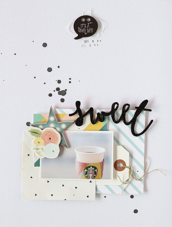 #papercrafting #scrapbook #layout - Eyoung Lee // Gossamer Blue