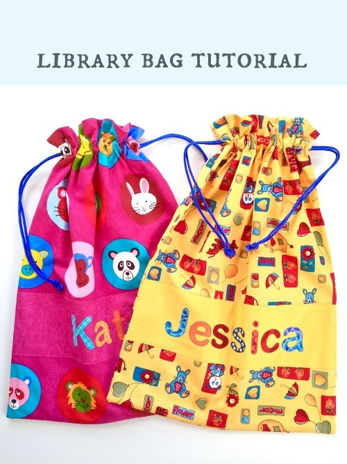While my days of making library bags for my children are well and truly over, I find myself still making them for nieces and nephews. This i...