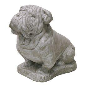 I so need this for my backyard! Bulldog garden statue