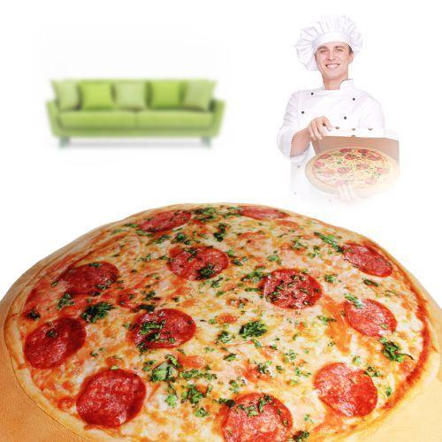 Das Pizza Kissen ist ein lustiges Geschenk, besonders für Pizzafans, und bequem dazu.
