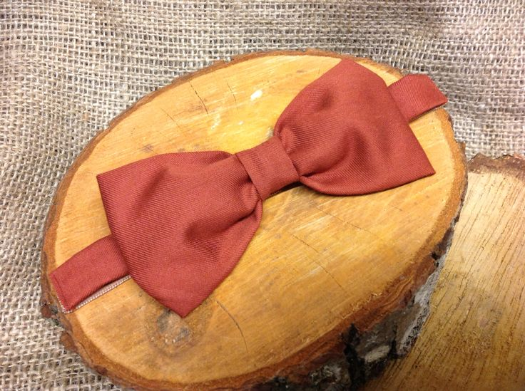 Bespoke handcrafted adjustable bow tie from Lilly Dilly's  #wedding #groom #ushers #bow tie #burnt orange #handcrafted #bespoke #luxury #Lilly Dilly's