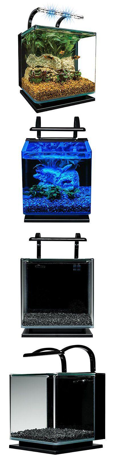 Aquariums and Tanks 20755: Marineland Contour Glass Aquarium Kit With Rail Light, 3-Gallon BUY IT NOW ONLY: $68.4