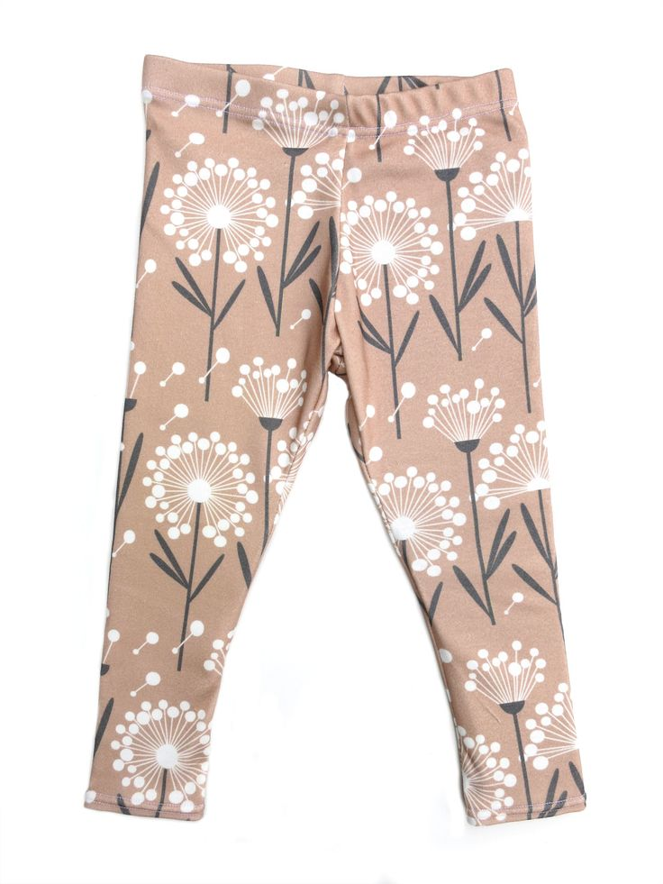 Fall 2014 Collection: Falling for Dandelions Leggings for your baby or toddler from www.brikhouse.com