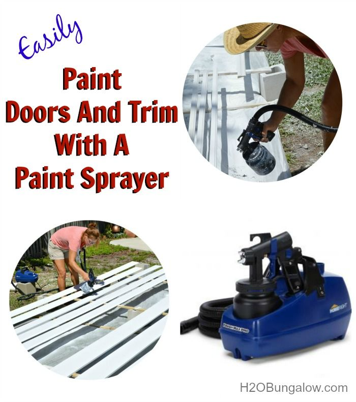 How to paint doors and trim with a paint sprayer the o 39 jays how to paint and paint sprayers - Best paint sprayer for exterior plan ...