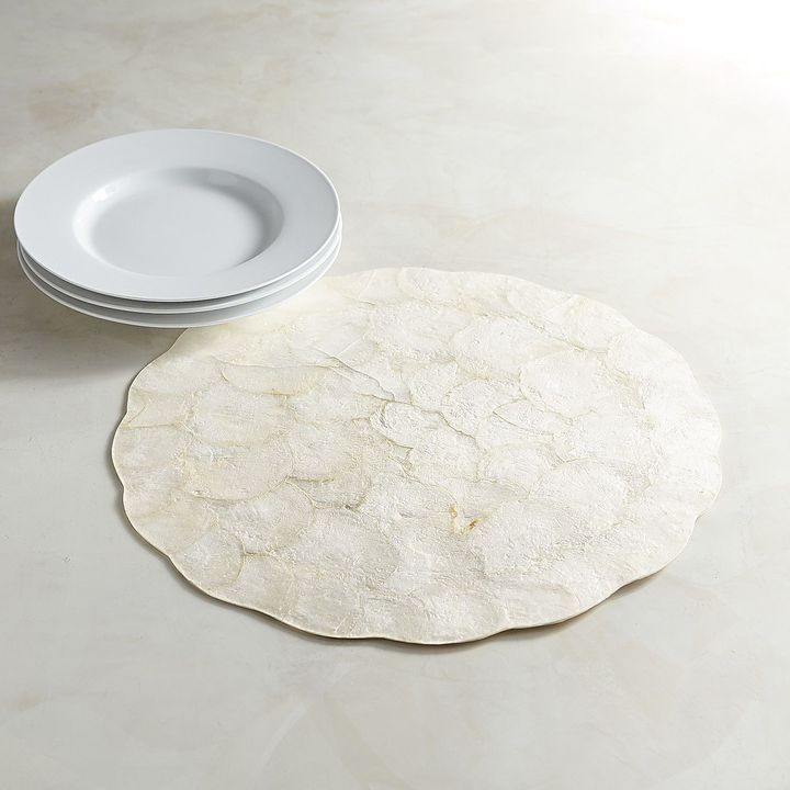 Pier 1 Imports Scalloped Natural Capiz Placemat