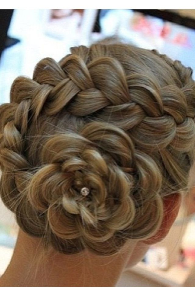 flower girl bun hairstyles - photo #26