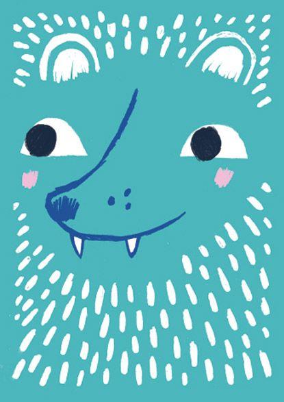 Emmi Jormalainen StudioPanama illustration wolfie